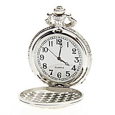 Unisex Dragon Pattern Alloy Analog Quartz Pocket Watch (Silver)