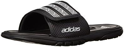 adidas Men's adiLight Slide SC Sandal,Black/White/Black,5 M US
