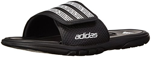 Adidas Men'S Adilight Slide Sc Sandal,Black/White/Black,11 M Us back-248809