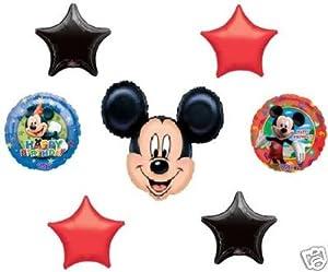 MICKEY MOUSE Birthday Party Head Stars (7) Balloon SET