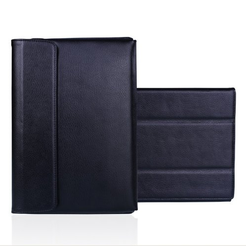 Mivizu Sense Leather Folio Stand Case Cover for Motorola Xoom Android Tablet 10.1-Inch, 32GB, Wi-Fi (Black)
