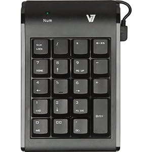 V7 KP0N1-7E0P Pavé numérique USB Câble 1,5 m Noir
