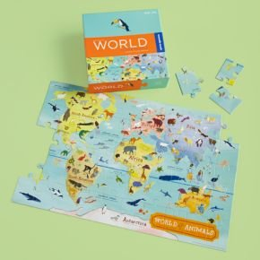 Picture of Land of Nod Kids Toys: Kids Continent and Map Floor Puzzle (B0046BP978) (Floor Puzzles)
