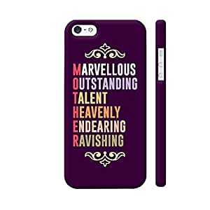 Colorpur Mother Definition Typography 3 Designer Mobile Phone Case Back Cover For Apple iPhone SE | Artist: Designer Chennai