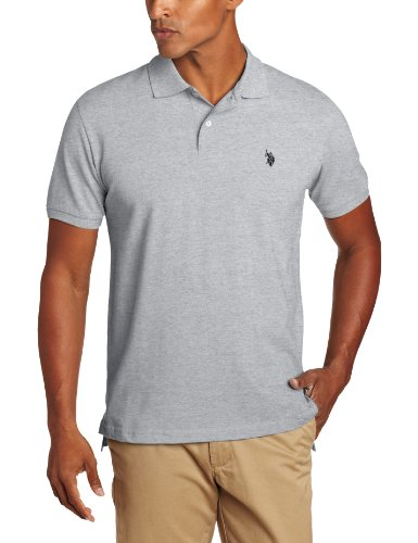 U.S. Polo Assn. Men's Solid Polo With Small Pony, Medium Heather, Large