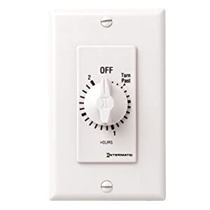 Intermatic Fd2hw 2 Hour Spring Loaded Wall Timer White