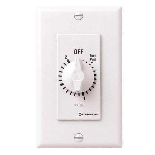 Intermatic Fd2Hw 2-Hour Spring Loaded Wall Timer, White
