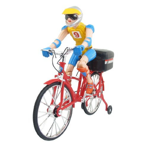 Como Battery Operated Red Black Sportsman Electric Music Bike Toy
