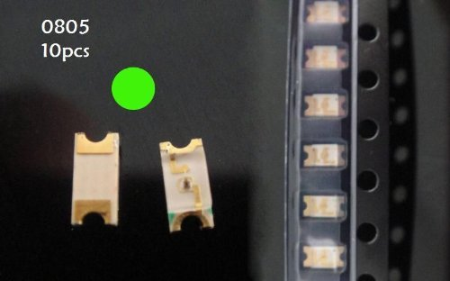 Hot Sale!!! Bargain Price!!! 10X Green 0805 Extra Bright Smd Smt Dash Led Lamp Light In Business