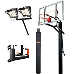 Goalrilla GLR GSII 60 Basketball System with Deluxe Hoop Light, Backboard and Pole... by Goalrilla