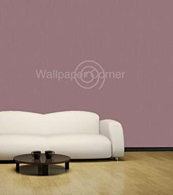 Plain Dye Texture Wallpaper Dk Plum by Debona