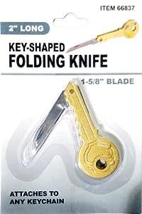 """Key-Shaped Folding Knife, 2-11/64"""" Long"""