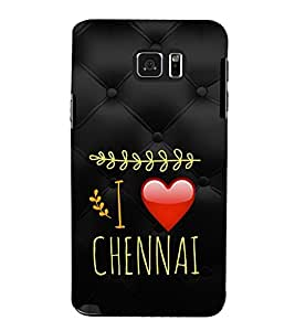 EPICCASE Chennai Love Mobile Back Case Cover For Samsung Galaxy Note 5 (Designer Case)