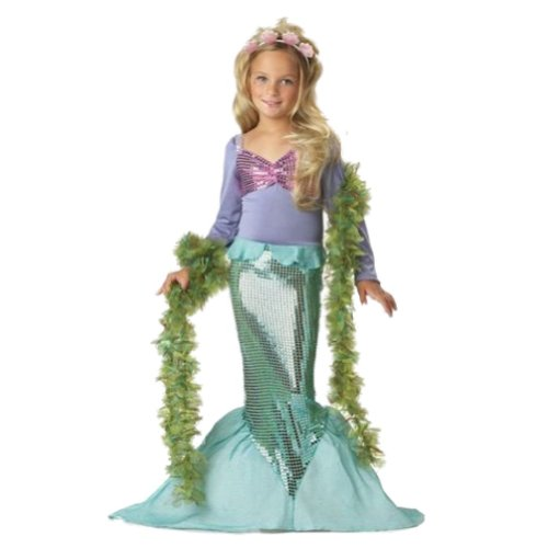 California Costumes Girls Little Mermaid Costume
