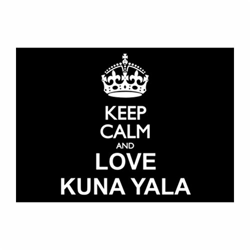 teeburon-keep-calm-and-love-kuna-yala-sticker-pacchetto-di-4