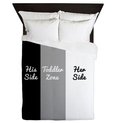 CafePress - His Side Toddler Zone Her Side Queen Duvet - Queen Duvet Cover, Printed Comforter Cover, Unique Bedding, Lightweight (Comforter His Side Her Side compare prices)