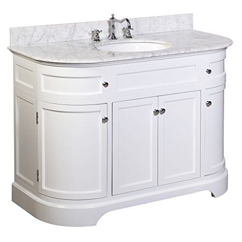 montage 48 inch bathroom vanity carrara white includes a white cabinet italian carrara. Black Bedroom Furniture Sets. Home Design Ideas