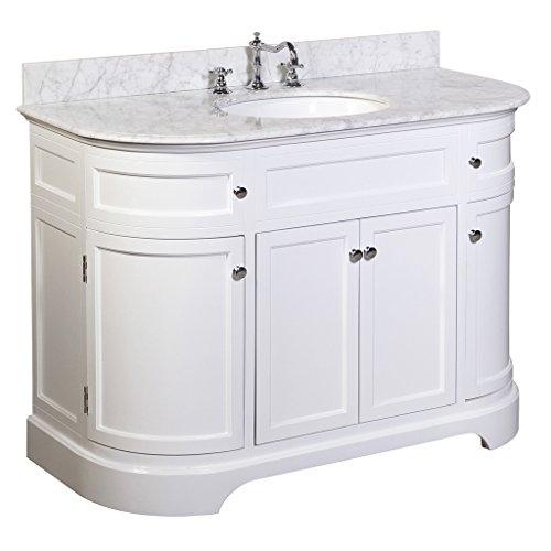 Montage 48 inch bathroom vanity carrara white includes Italian carrara white marble countertop