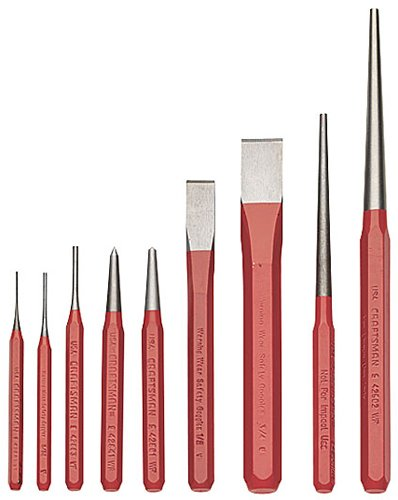 Craftsman 9-43038 Punch Chisel and Line Up Set, 9-Piece