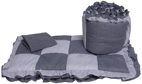 Baby Doll Bedding Gingham Cradle Bedding Set, Navy