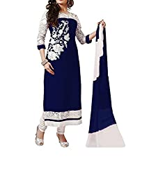 Poonam Fab-Unstitch Dress Material__M_Blue