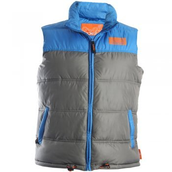 GioGoi Jepper Padded Gilet in Grey GREY LARGE