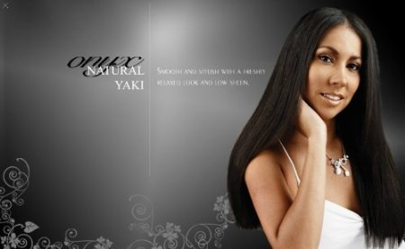 "ONYX, 100% Elite Human Hair, Natural Essence Yaki, Affiliated with Black Diamond, 12"", Color #P1B_27"
