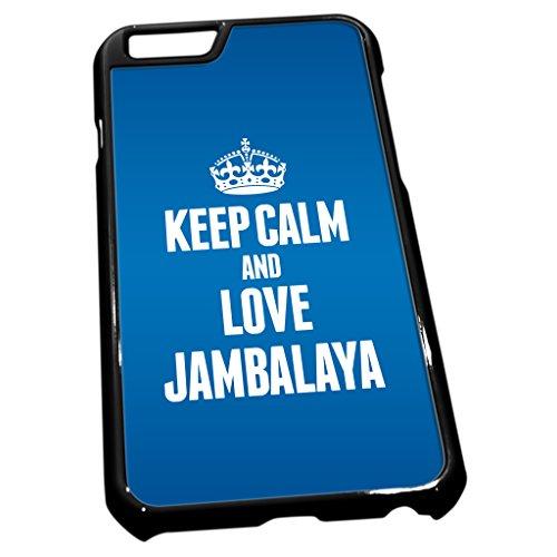 Noir coque pour iPhone 61186Bleu Keep Calm and Love Jambalaya