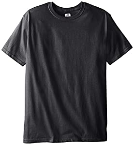 Russell Athletic Men's Basic T-Shirt, Black Heather, Large