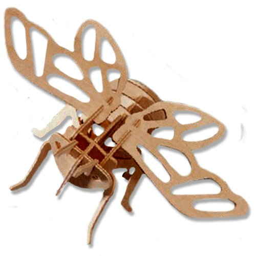 3-D Wooden Puzzle - Small Cicada -Affordable Gift for your Little One! Item #DCHI-WPZ-E016