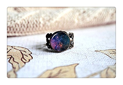 Purple Orion Nebula, Space Nebula Galaxy Adjustable Ring, Antique Bronze. Choose Your (Galaxy Ring compare prices)
