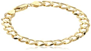 10k Yellow Gold 9.6mm Cuban Bracelet, 8.5