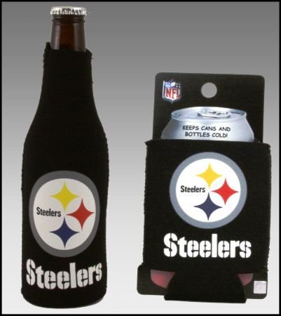 Set Of 2 Pittsburgh Steelers Can & Bottle Koozie Cooler