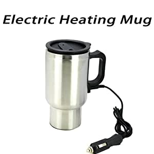 Stainless Steel 12V Electric Heating Mug for Car Usage