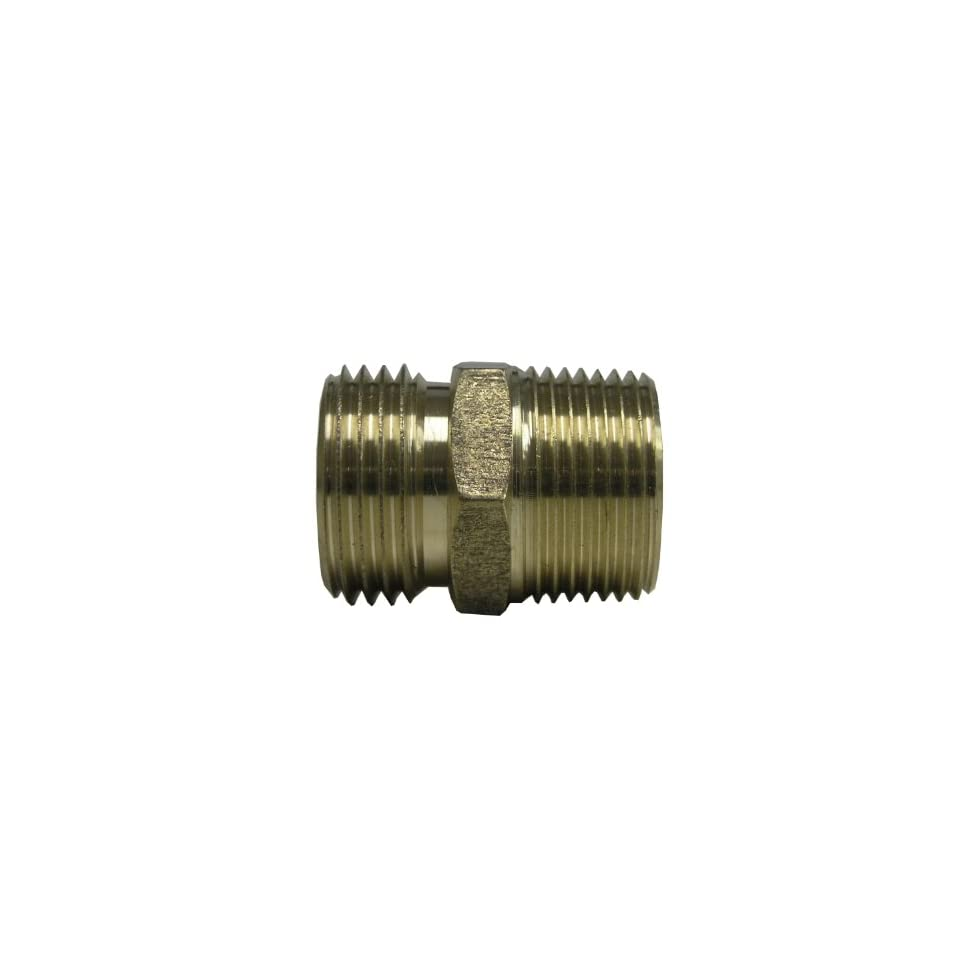 Watts A 665 Brass Garden Hose Adapter, 3/4 Inch x 3/4 Inch MPT