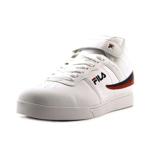 Fila Men's Vulc 13 Wht/Flnvy/Flred Casual Shoe 10 Men US