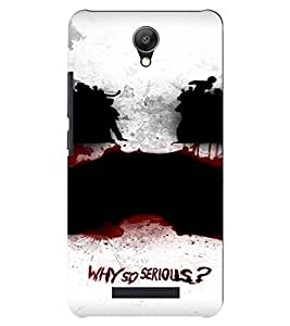 PrintVisa Joker Design 3D Hard Polycarbonate Designer Back Case Cover for Xiaomi Redmi Note 2