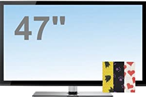 ProtectTVs TV Screen Protector, Standard version with Optional Patterned Straps for 47 inch LED, LCD and Plasma TV