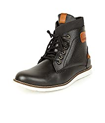 Alpes Martin Mens P.S. Black Leather Boots (51513-A) - 7 UK
