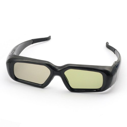 SainSonic SSZ-200BS 3D Rechargeable Infrared Active Shutter Glasses For Sony LX, NX, HX Series 3D HDTVs *BLACK*