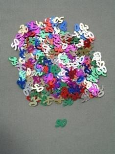 50 Confetti, Multi-color, 10 mm Size, 1/2 oz Bag (Qty 1 Bag)