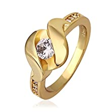 buy [Puzzle Ring Series]Wawoo Fashion Ring For Women 18K Plated Rose Gold Cz Cut Design Rings