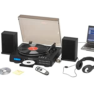 Encore Turntable with Cassette, CD Player/Recorder & USB