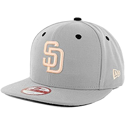 New Era SD San Diego Padres Custom Snapback Hat (Grey/Apricot) 9Fifty Cap