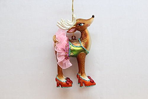 December Diamonds Miss Lady Deer Glass Handpainted Ornament-She is Gorgeous & She Knows it. Would make Bambi Blush:)