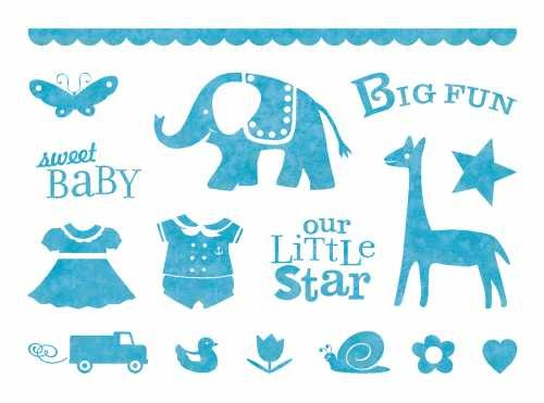 Baby Animals Clear Unmounted Rubber Stamp Set (96631)