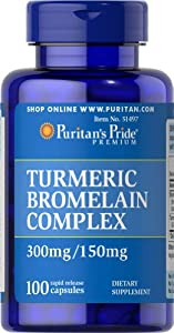 Puritan's Pride Turmeric & Bromelain Complex-100 Rapid Release Capsules