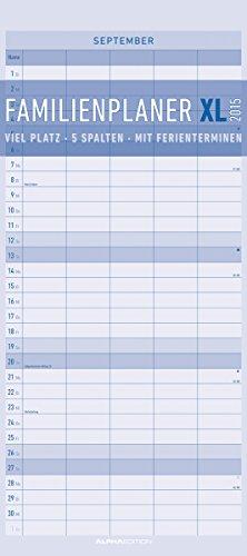 Familienplaner XL 2015 - Familientermine / Familientimer (22 x 50) - mit Ferienterminen - 5 Spalten, Buch
