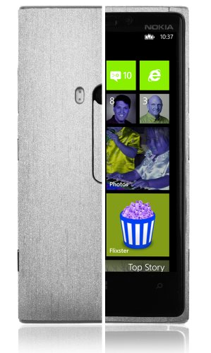 Skinomi® Techskin - Nokia Lumia 920 Screen Protector + Brushed Aluminum Full Body Skin Protector / Front & Back Premium Hd Clear Film / Ultra High Definition Invisible And Anti Bubble Crystal Shield With Free Lifetime Replacement Warranty - Retail Packagi