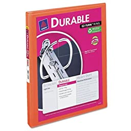 Durable View Binder with Slant Rings, 11 x 8 1/2, 1/2\